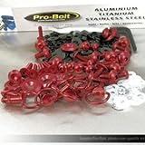 Kit visserie carénage en aluminium Raptor/V-Raptor 00+ Rouge