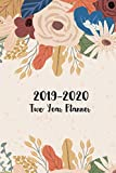 2019-2020 Two Year Planner: Pretty Floral Cover, 24 Month Calendar Planner, Two Year Monthly Pocket Planner 6'...
