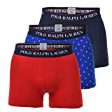 Polo Ralph Lauren Herren Boxer Shorts Trunk 3er Pack - Baumwolle, Mehrfarbig M (Medium)