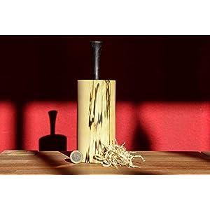Holzdose rund mit Deckel - Schöne handgefertigte Holzdeko