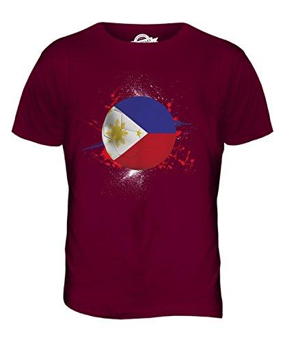 CandyMix Philippinen Fußball Herren T Shirt Burgunderrot