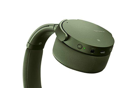 Sony MDR-XB950N1 kabelloser Kopfhörer mit Geräuschminimierung (Noise Cancelling, Extrabass, NFC, Bluetooth, faltbar) grün - 12