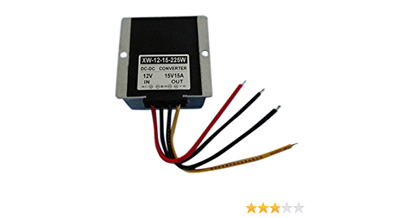 Blackr 12v To 15v Dc Step Up Power Converter 15a 225w Dc Boost Power Supply Voltage Changer Adapter Regulator Auto