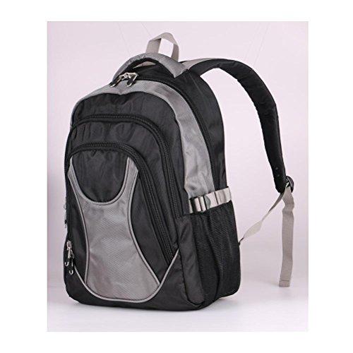 Zaino scolastico da scuola di viaggio per Zaini da 15 pollici impermeabile nylon impermeabile per uomini e donne , dark blue grey