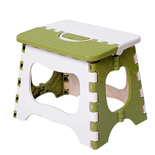 CS Mini Tabouret Pliant Portable Pique-Nique Chaise Pliante Petit Tabouret avec Petit Tabouret en Plastique Forte Capacité de Roulement (Size : S)