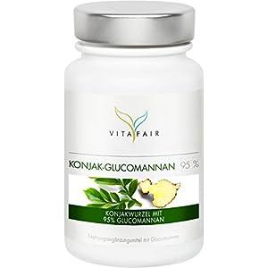 Glucomannan – 3000mg Konjakwurzel pro Tag – 120 Kapseln – 95% – Hochdosiert – Vegan – Ohne Magnesiumstearat – Made in Germany