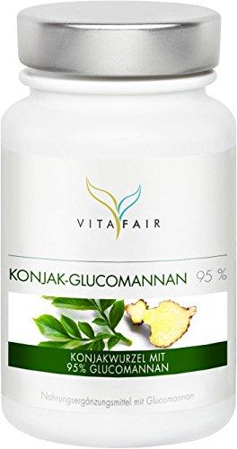 Glucomannan | 3000mg Konjakwurzel pro Tag | 120 Kapseln | 95% | Hochdosiert | Vegan | Ohne Magnesiumstearat | Made in Germany