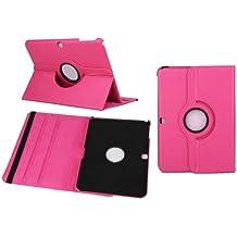 Funda Caso para Samsung GALAXY Tab 4 10.1 Pulgadas SM-T530 T531 T533 T535 Smart Cover Slim Caso Case Stand Flip Screen Protector (Rosa) NUEVO