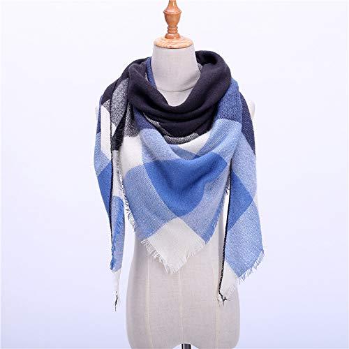 SAFZES 2018 Marke Frauen schal Mode Plaid weiche schals schal Lady Wraps Designer Triangle warm Großhandel gestricktes Bandana