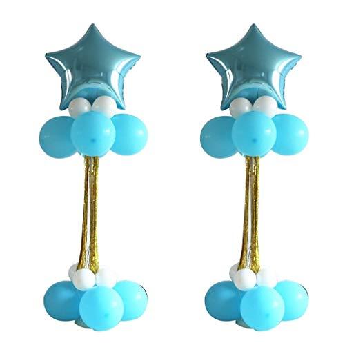 XUZg-balloons Bar-Ballon, Geburtstagsfeier-Hochzeits-Szene Hotel-Bankett-Ballon-dekorative Spalten-Kindergeburtstags-Latex-Ballon-Dekoration (Farbe : B) (Die Spalten Für Dekoration Sie Kaufen)