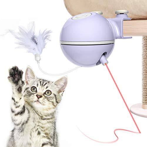 El juguete para gatos es un divertido juguete interactivo que puede entretener incluso al gato más perezoso. Solo es adecuado para el árbol del gato, el grosor adecuado ≤2.5cm. Es un compañero lindo para liberar el aburrimiento y la atención del gato...