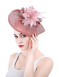 Pluma De La Vendimia De Las Mujeres Headwear Elegante Novia Boda Bowler Hat  Accesorios para El eed82cc4158