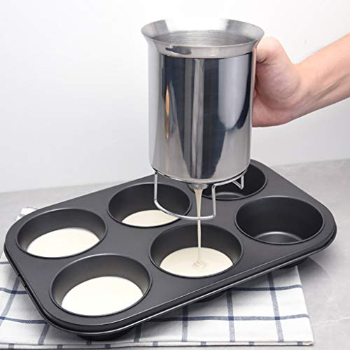 Küche Dining Bar,TwoCC Spender Edelstahl Pfannkuchen Teig Stahl Handheld Rühren Teig Separator -