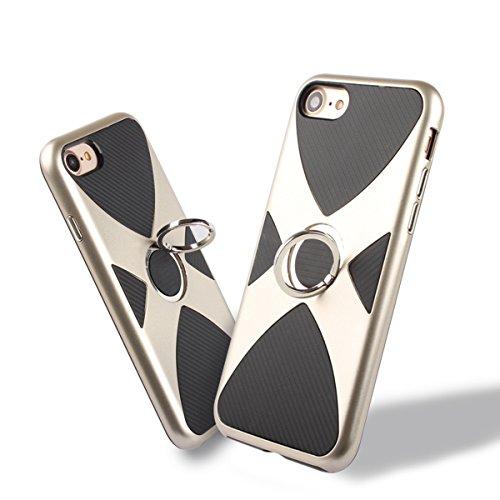 iPhone6/6S Hülle mit Ring Ständer,EVERGREENBUYING Abnehmbare Hybrid Schein IPHONE 6 / 6S Tasche Schutzhülle Plastik Material Case Etui für iPhone 6 / 6s 4.7 inch Rose Gold Silber