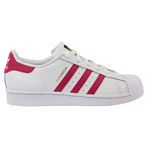 adidas Originals Superstar Foundation B23644, Mädchen Low-Top Sneaker, Weiß (Ftwr White/Bold Pink/Ftwr White), EU 35.5