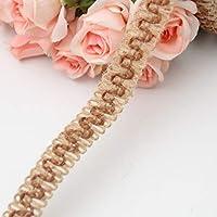 SDGDFXCHN - Rollo de cinta de arpillera para manualidades, decoración de boda, cumpleaños 500cm*1.6cm marrón