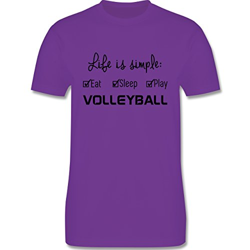 Volleyball - Life is simple Volleyball - Herren Premium T-Shirt Lila
