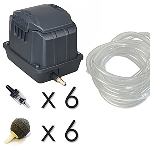 Outdoor Garden Pond Air Pump with Free Pipe and Air Stones (SES-40 Kit)