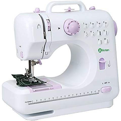 Anten® Máquina de Coser Coser Aparatos Utilidad de la Máquina de Coser de Puntada para el Hogar Elegante para Niños con Muchos Programas de Costura para Familias y Niños Manualidades con Garantía de 10