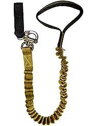 """Fusión Pets 12 pies 144""""x1"""" 5000lbs Bungee interno elástico honda militar táctica de la policía K9 nominal de caza Guardia perro de goma de la manija Correa canina Coyote Brown"""