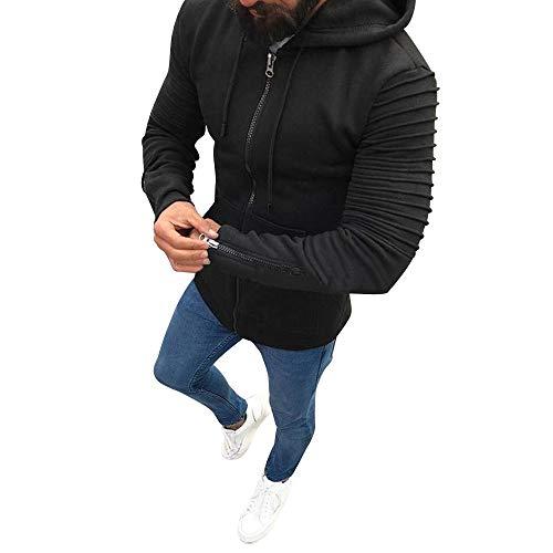Preisvergleich Produktbild Oliviavan, Mode Patchwork Langarm Herren Pullover Mantel Stehkragen Pullover Outwear Wintermantel Winterjacke Sweatshirt Sportbekleidung Hooded Outwear