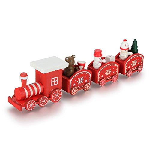 Weihnachtsdekoration silber Weihnachten Zug Ornament mit Wagen NEU