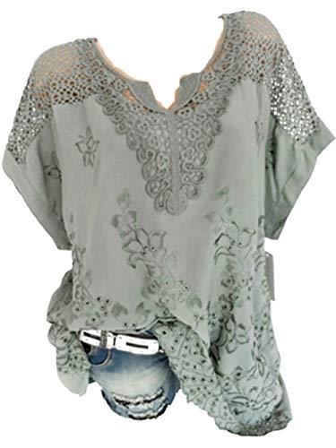 Bluse Damen Herbst Shirt Knopf Fünfzackigen Stern Hot Drill Tops Oberteil Langarm 3/4 Ärmel O-Ausschnitt Sweatshirt Langarmshirt Lose Hemd Tunika - 1/2-Ärmel-rollkragen
