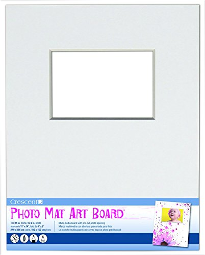 Crescent White Matte (Crescent Karton CO Foto Matte Art Board 27,9cm x 35,6cm 15/pkg-White hält 4-Zoll x 6Foto)