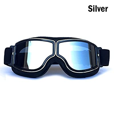 HCMAX Vintage Goggles Sports Sunglasses Helmet Steampunk Eyewear for Outdoor Motocross Racer Motorcycle Aviator Pilot Style Cruiser Scooter Goggles Retro for Kids Men and Women by HCMAX