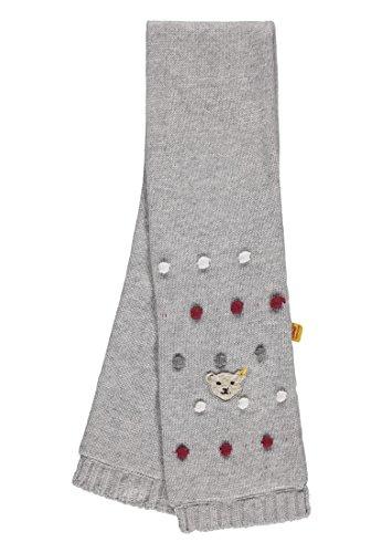 Steiff Mädchen Strick Schal, Grau (Snow Grey Melange|Gray 8359), One Size