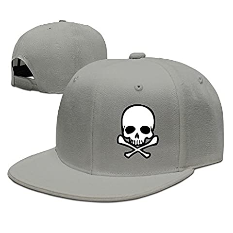 SSEE Unisex Head Skull With Crossbone Casual Trucker Caps Pink