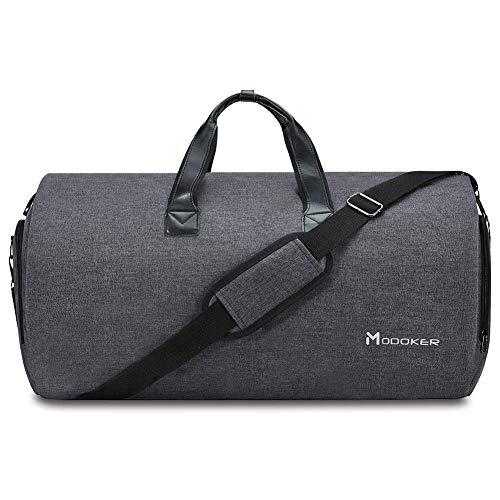 Modoker Kleidersack Anzughülle für Männer Frauen, Kleiderhülle Handgepäckstück für Reisen, Schuhbeutel - 2 in 1 Hängender Koffer Anzug Reisetaschen, Hochwertige Kleiderhülle für Anzug und Kleid