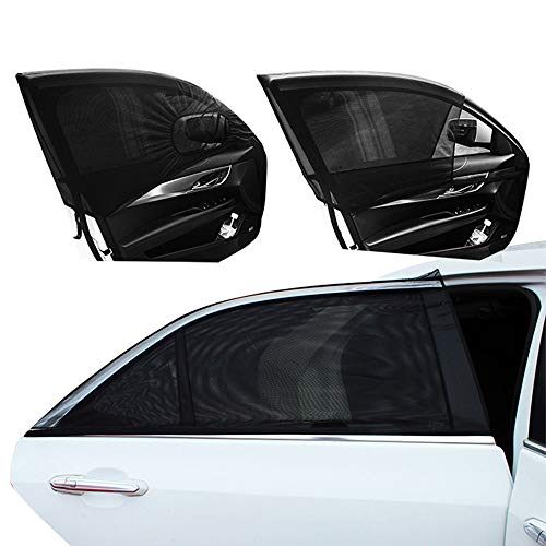 Universal 2 stücke Autofenster Mesh Hinten Sonnenschutz für Kinder Erwachsene Kleinkinder Universal für Auto Van Suv