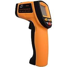 RCYAGO GM900 Temperatura Pistola No-Contacto 12: 1 Pantalla LCD infrarrojos infrarrojos Digital temperatura pistola Termómetro -50 ~ 900C (-58 ~ 1652F) 0.1 ~ 1.00 ajustable