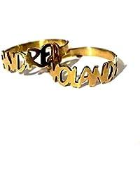 Bolboreta Valente ❤ Regalo para Novia ❤ - Anillo Alianza, Anillo Personalizado con Nombre. Anillo con Nombre Bölbo® Personalizable con…
