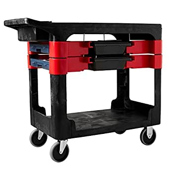 Rubbermaid Commercial Service Cart with 2x Boxes and 4x