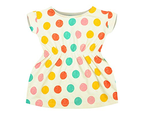 Flybees Baby Girl Mini Frocks, Extra Soft to Keep Baby Warm & Cosy – 100% Tested Cotton, Allover Printed - Comfort Fit, 3 Months to 3 Years