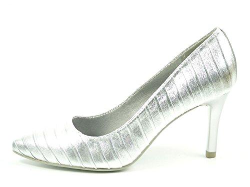 Tamaris Damen Pumps Silber (Metallic), Schuhgröße:EUR 39
