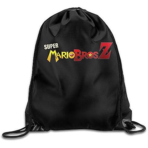 Canace Super Mario Bros Z Sacchetti in Sport all' aria aperta con coulisse zaino, White, taglia