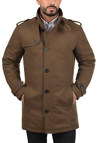 Blend Warren Herren Winter Mantel Wollmantel Lange Winterjacke mit Stehkragen, Größe:L, Farbe:Camel Brown (71517) - 2