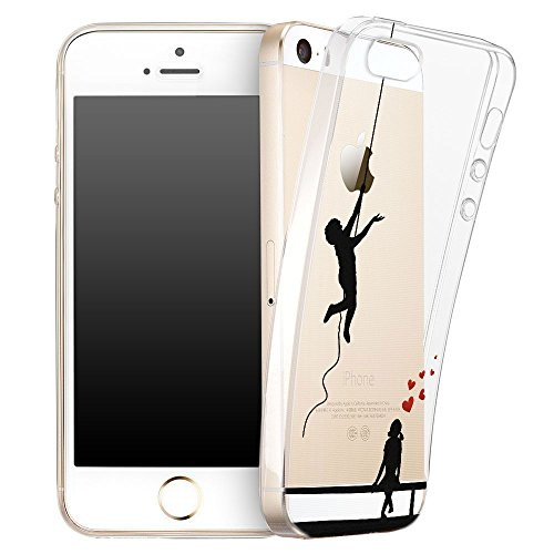 OOH!COLOR® Design Case für iPhone 6 / 6S mit Motiv MPA147 weiß Punkte modisch stilvoll Silikon Hülle elastisch Schutzhülle Transparent Case Luxus Cover Slim Etui APL001 verliebt Paar