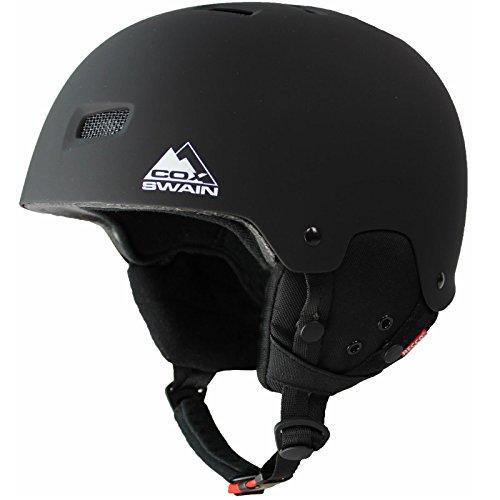 Cox Swain Ski-/Snowboard Helm Tiger - mit Recco Lawinenreflektor, Colour: Black, Size: 58-61cm
