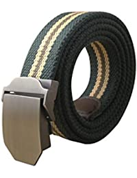 sourcingmap Men Outdoor Military Style Tactical Web Belt With Zinc Alloy Buckle Width 1 1/2