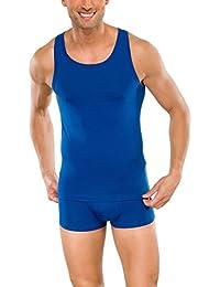 SCHIESSER Herren Unterhemd, Shirt, Sportjacke, 95/5 Serie, 4 Farben: whisky, dunkelgrün, bordeaux oder blau, 144377
