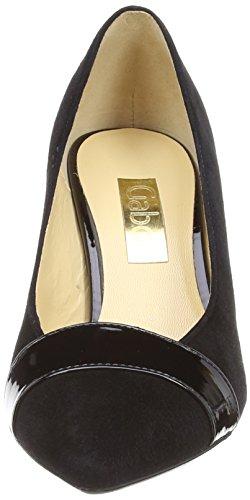 Gabor - Erskine, Scarpe Col Tacco da donna Nero (Black (Black Suede/Patent))