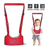 Porte bébé aide à la marche - Harnais de Sécurité Pour Bébé - Bretelle premier pas, Laisse pour tout-petit, Marcheur de sûreté infantile Bébé Marche Protection Ceinture (Rouge)