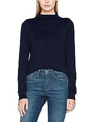 Vero Moda Womens Synthetic Pullover (195698401_Navy Blazer_Small)