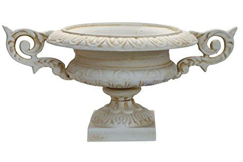 Amphore 38cm Pflanzkübel Blumentopf Blumenkübel Eisen Antik-Stil weiss