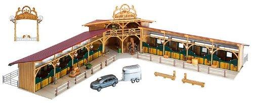 Preisvergleich Produktbild 130540 - Faller H0 - Limitiertes PREMIUM Modell Reiterhof Gestüt Lilienhof, Bausatz für Modelleisenbahn Spur H0