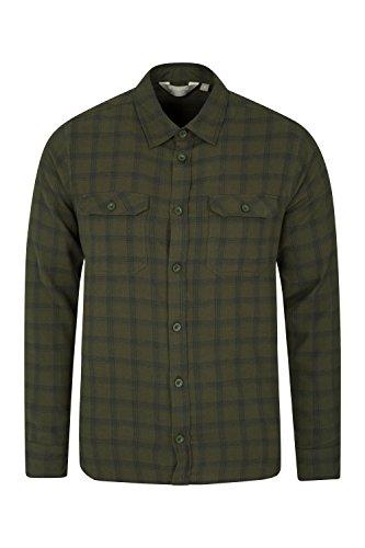 Mountain warehouse camicia uomo di flanella manica lunga traccia kaki m